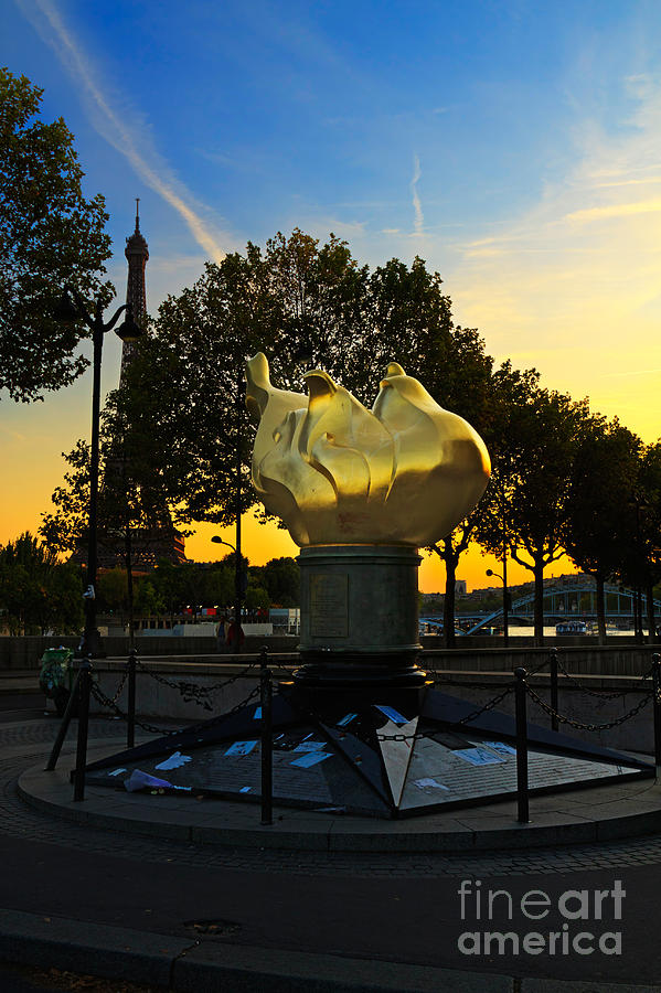 Flame Of Liberty Photograph - The Flame Of Liberty In Paris by Louise Heusinkveld