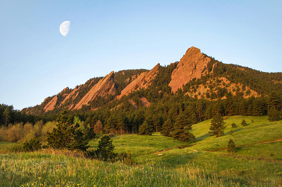Flatirons Photograph - The Flatirons - Spring by Aaron Spong