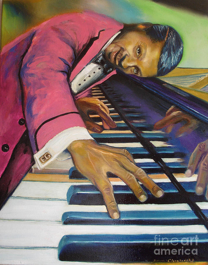 Jazz Painting - The Flavor Of Erroll Garner by Donna Chaasadah
