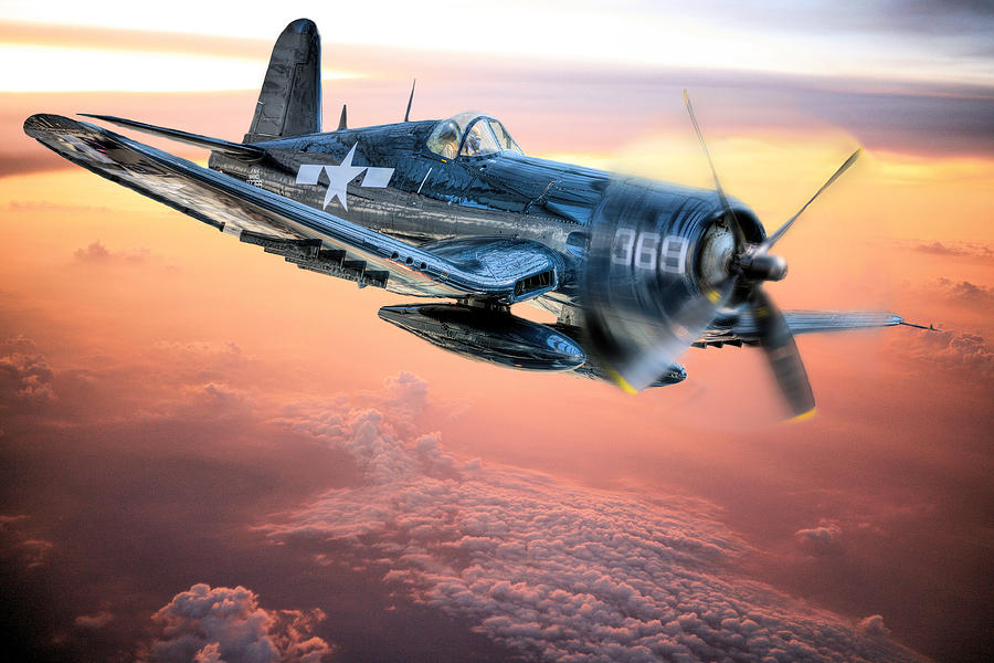 F4u Photograph - The Flight Home by JC Findley
