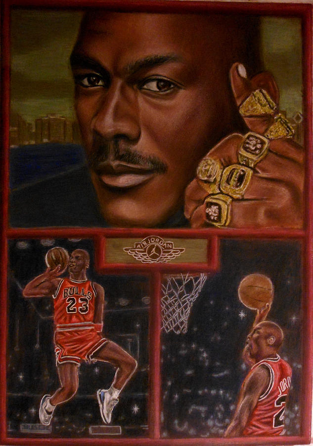 Sports Painting - The Flight Instructor Feat Michael Jordan by D Rogale