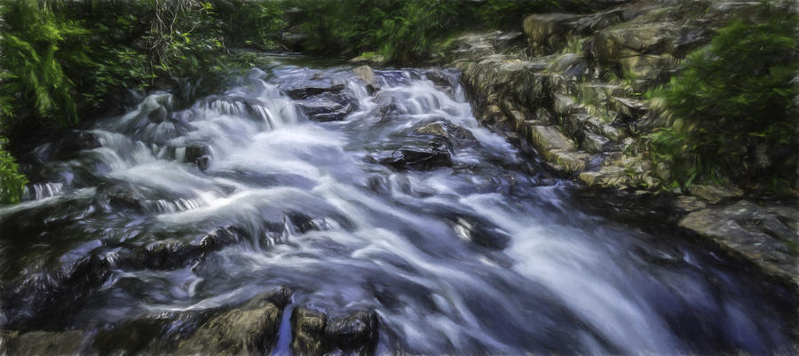 Brook Painting - The Flow by Barb Hauxwell