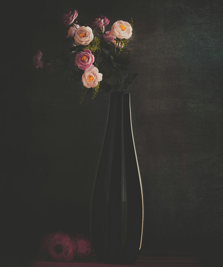 Vase Photograph - The Flower by Farid Kazamil