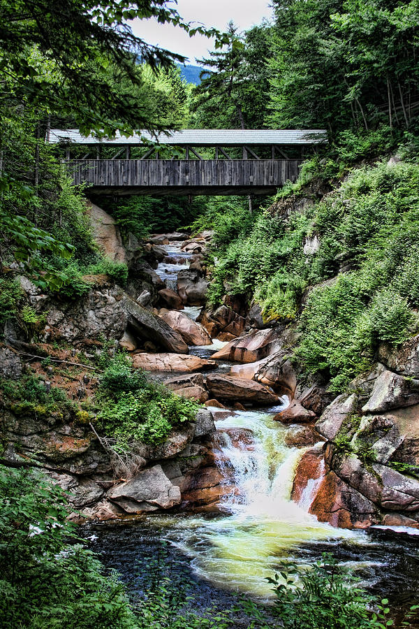 Bridge Photograph - The Flume by Heather Applegate