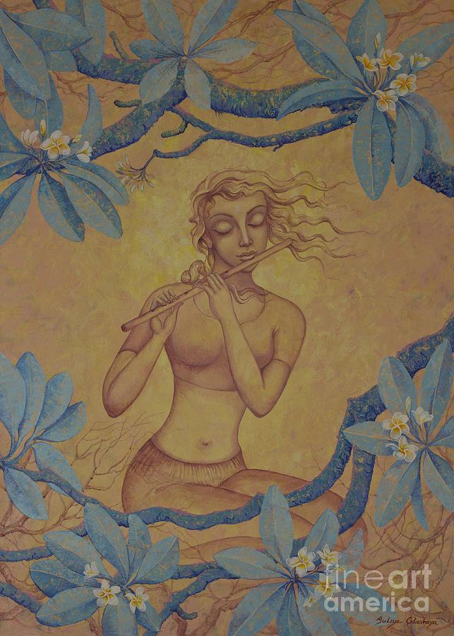 Flute Painting - The flute by Yuliya Glavnaya