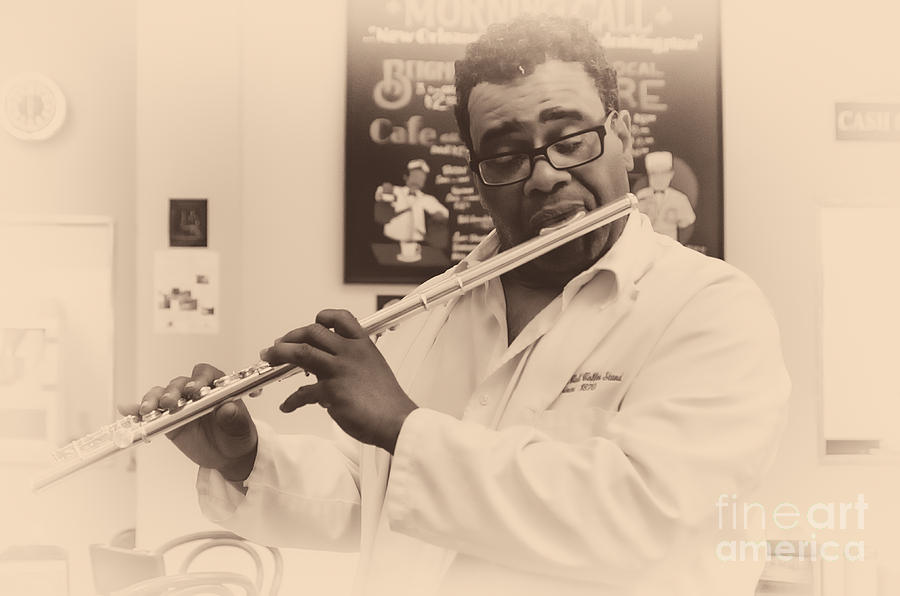 City Park Photograph - The Flutist Of Morning Call New Orleans by Kathleen K Parker