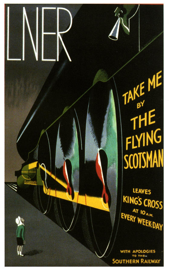 The Flying Scotsman Digital Art - The Flying Scotsman by Georgia Fowler