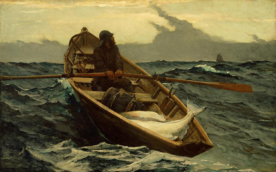 the fog warning winslow homer 1885 painting by movie