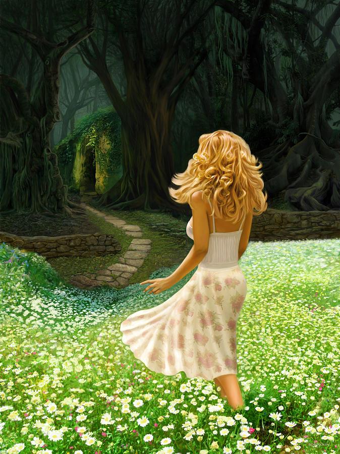 Evil Digital Art - The Forbidden Forest by Bob Nolin