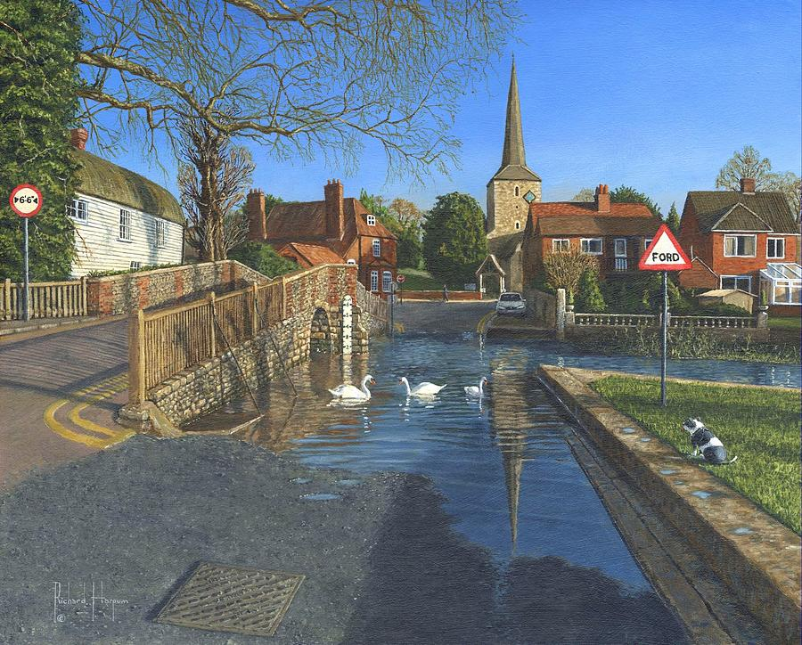 The Ford At Eynsford Kent Painting