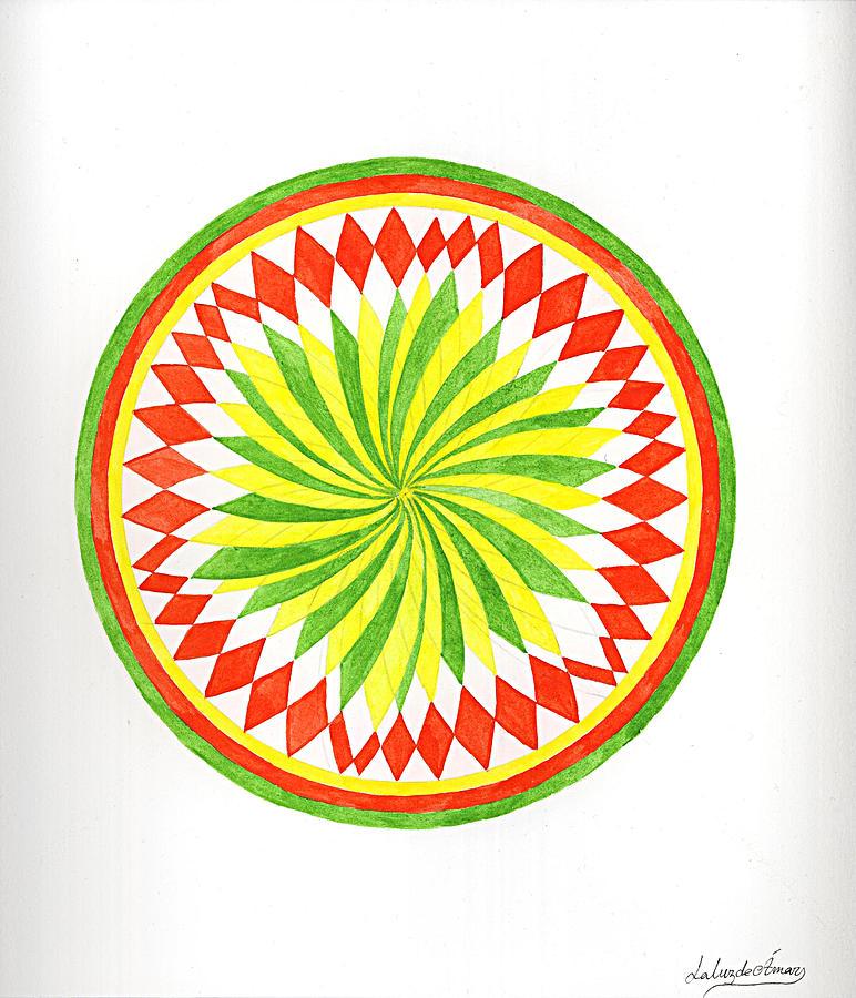 Mandala Painting - The Forest Mandala by Silvia Justo Fernandez