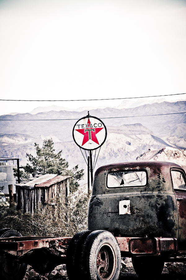 Texaco Photograph - The Forgotten by Merrick Imagery