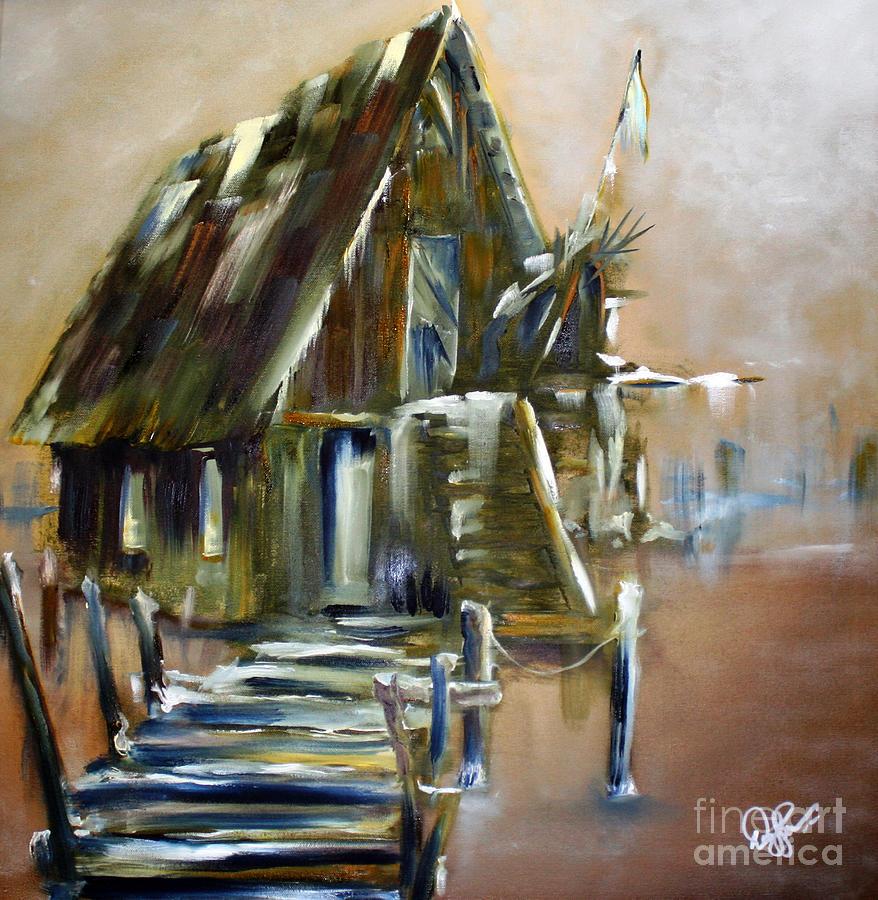 David Painting - The Forgotten Shack by David Kacey