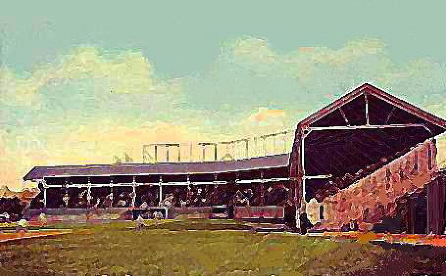 Ft. Wayne In Painting - The Fort Wayne In Baseball Stadium Around 1910 by Dwight Goss