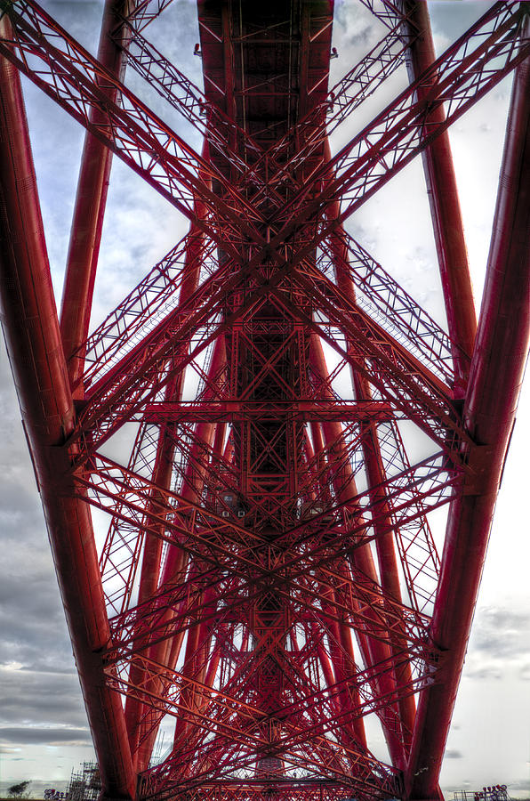 Forth Photograph - The Forth Bridge Up Close And Personal by Ross G Strachan