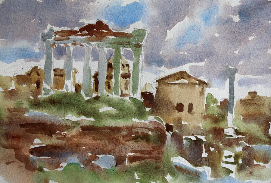 Italy Painting - The Forum by Owen Hunt