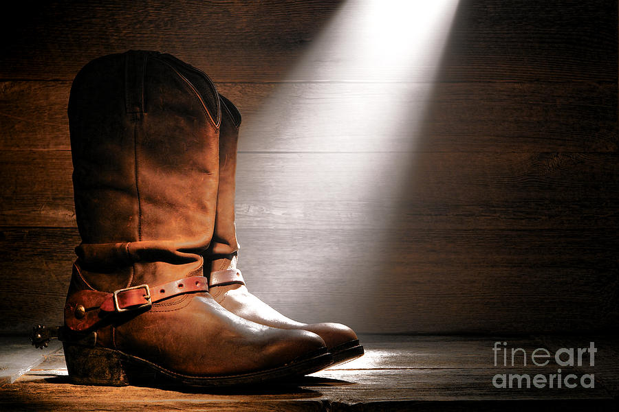Boots Photograph - The Found Boots by Olivier Le Queinec