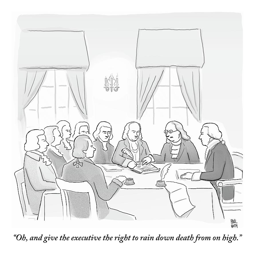 The Founding Fathers Drafting The Constitution Drawing by Paul Noth