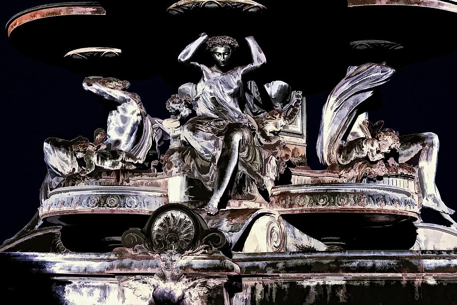 Queen Digital Art - The Fountain Queen by Diane Dugas