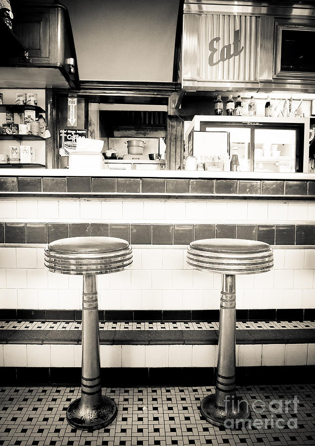 Diner Photograph - The Four Aces Diner by Edward Fielding