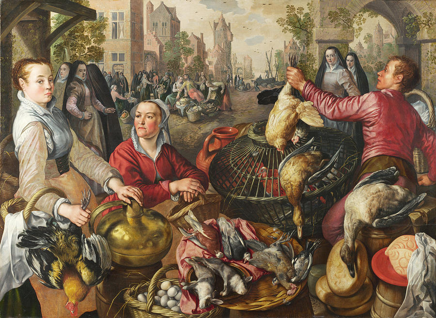 the four elements air painting by joachim beuckelaer