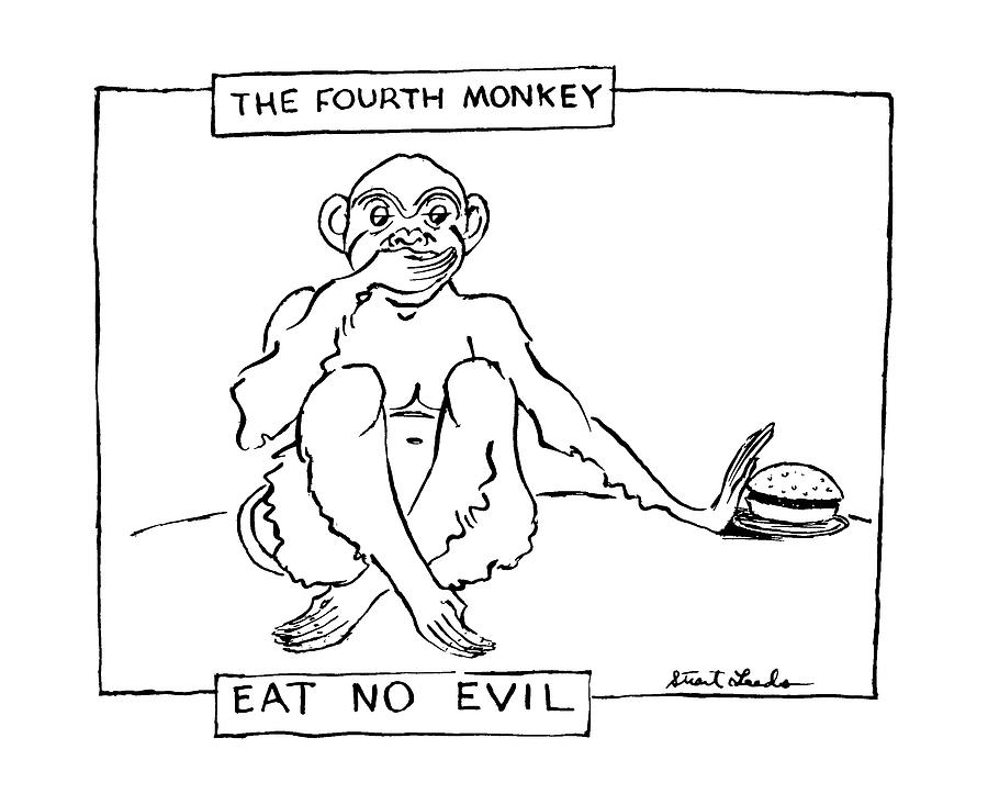 The Fourth Monkey Drawing by Stuart Leeds