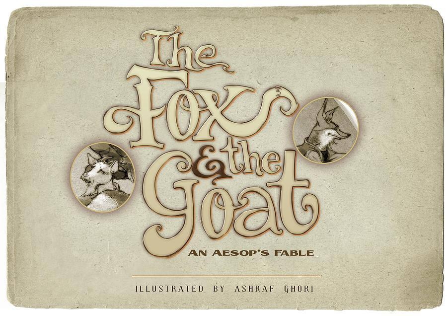 Story Book Painting - The Fox And The Goat I by Ashraf Ghori