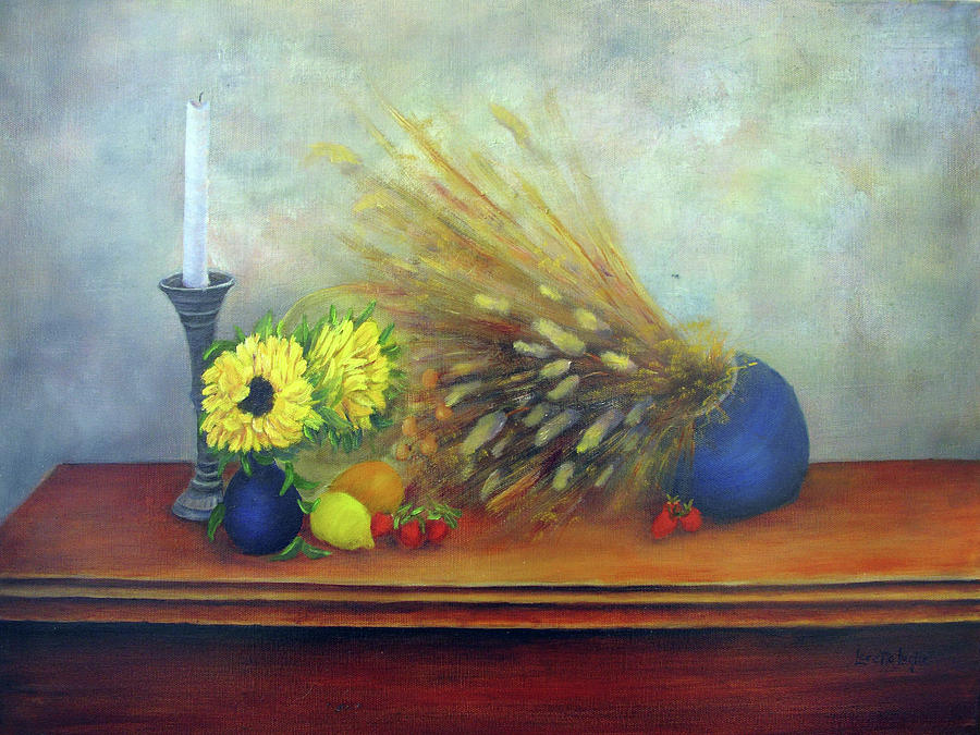 Still Life Painting   The Foyer Table By Loretta Luglio