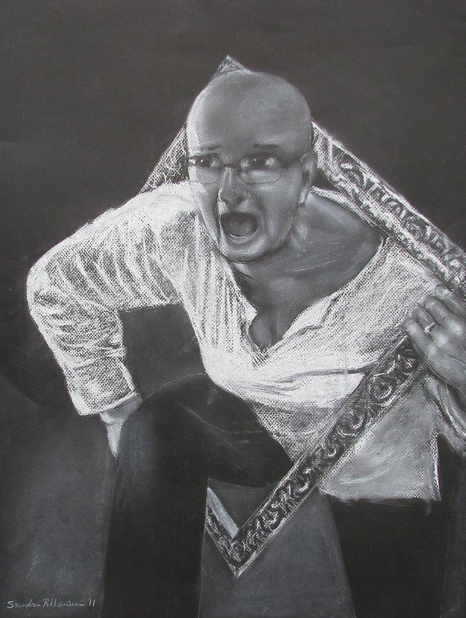 Sandra Hansen Drawing - The Frame by Art Nomad Sandra  Hansen