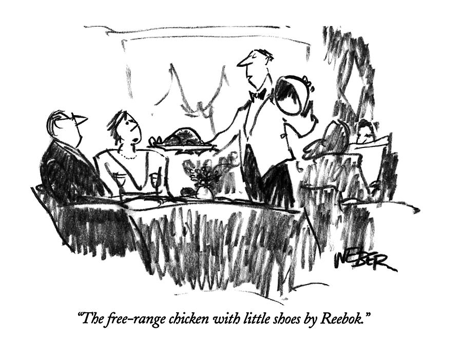 The Free-range Chicken With Little Shoes Drawing by Robert Weber