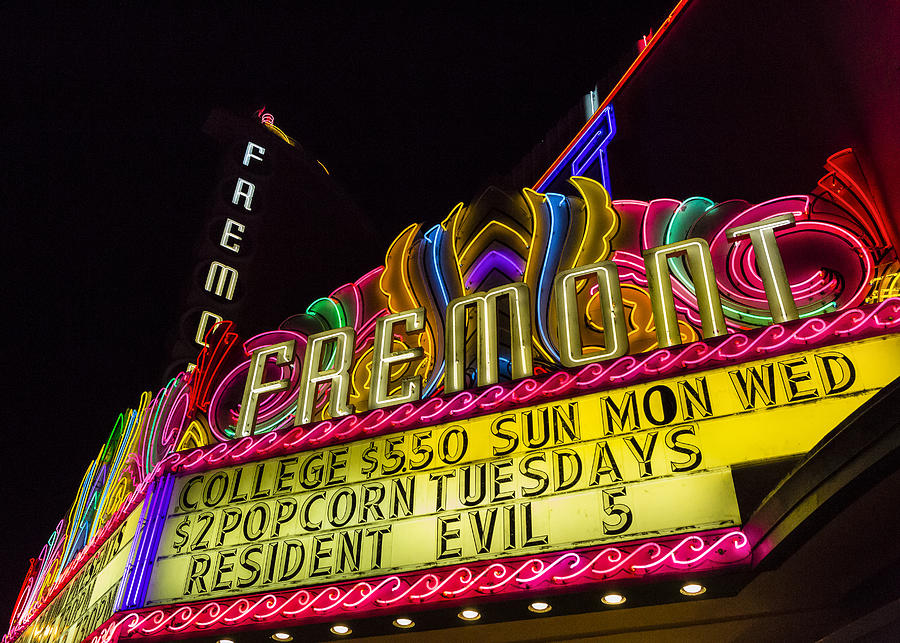 Movie Theater Photograph - The Fremont by Caitlyn  Grasso
