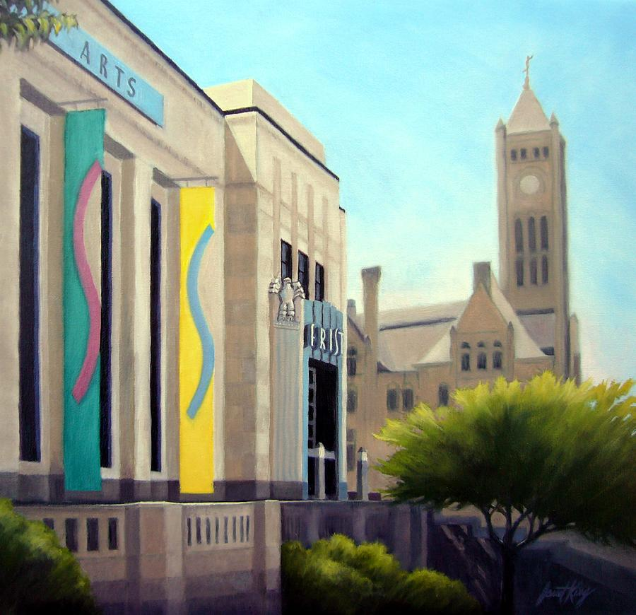 Nashville Tennessee Painting - The Frist Center by Janet King