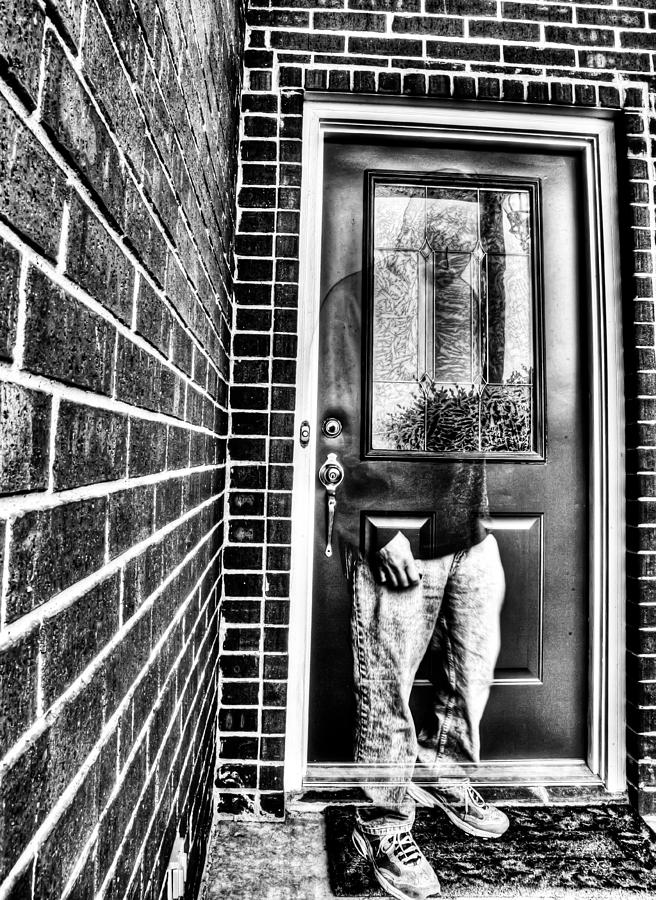 Hdr Photograph - The Front Door Ghost by Mark Alder & The Front Door Ghost Photograph by Mark Alder