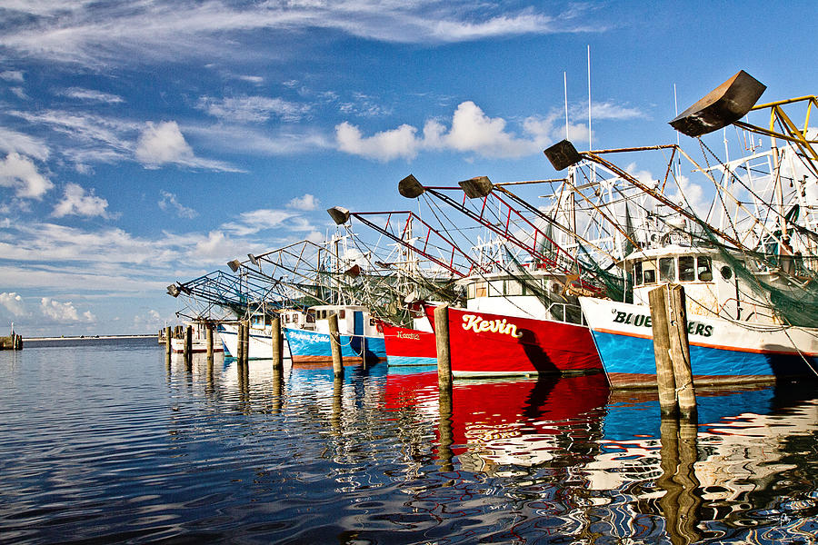 Shrimp Boat Photograph - The Front Line by Scott Pellegrin