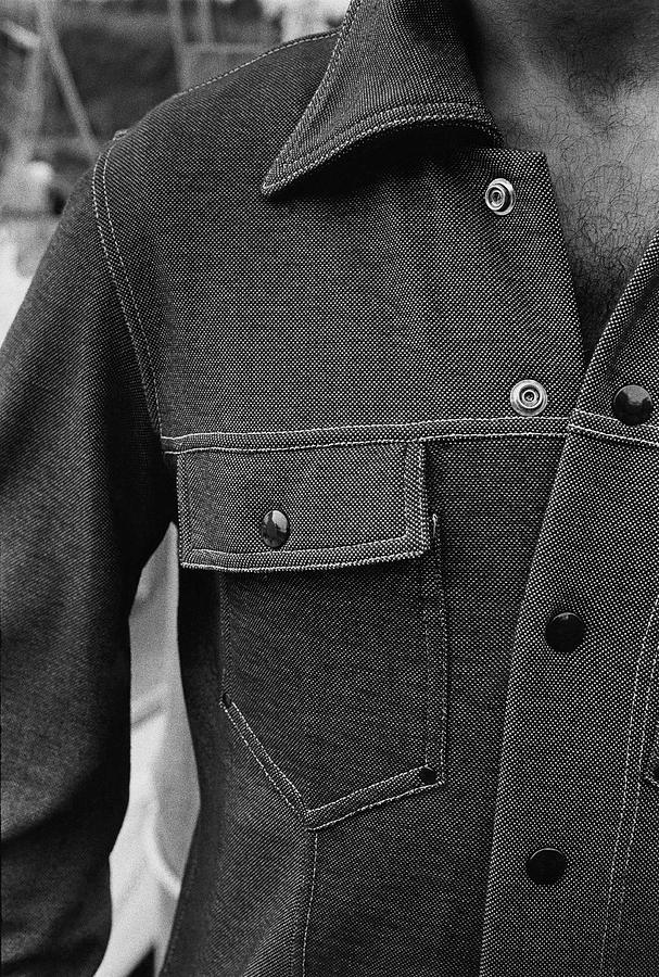 The Front Of A Denim Jacket Photograph by Mark Patiky
