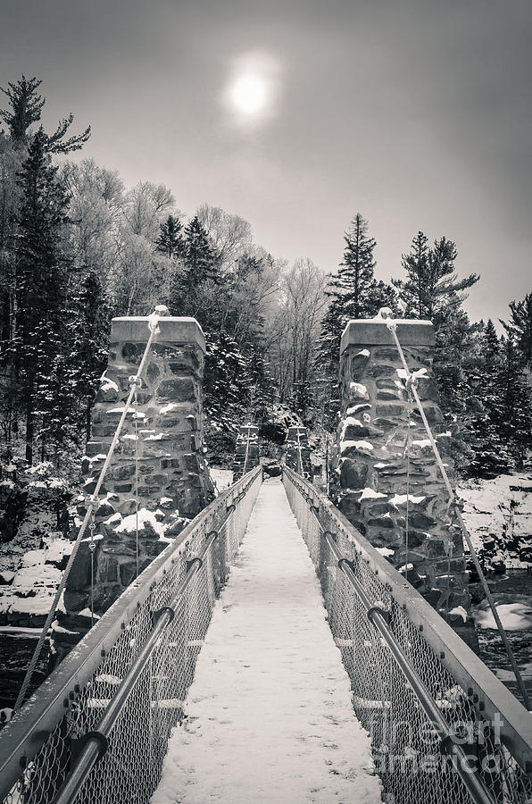 Swinging Bridge Photograph - The Frost Across by Ever-Curious Photography