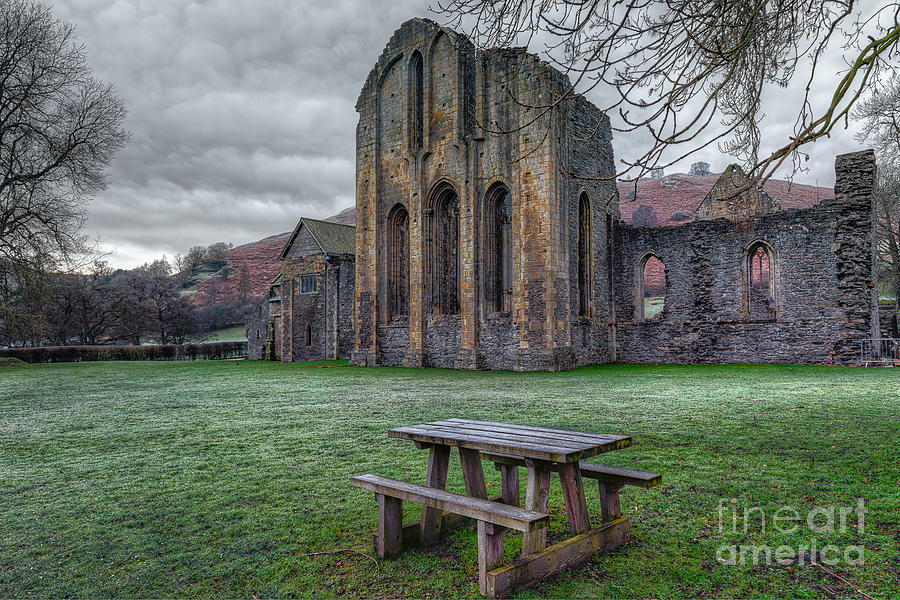 13th Century Photograph - The Frosty Bench by Adrian Evans