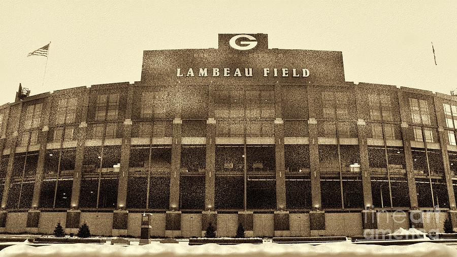 Lambeau Field Photograph - The Frozen Tundra by Tommy Anderson