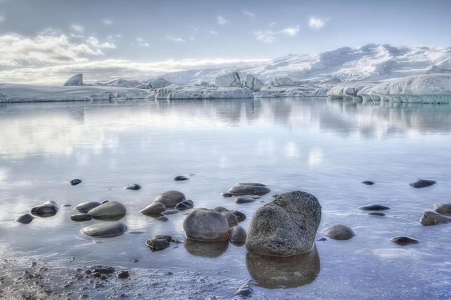 Jokulsarlon Photograph - The Frozen World by Evelina Kremsdorf