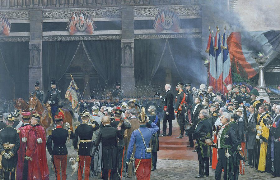 Scientist Photograph - The Funeral Of Louis Pasteur 1822-95 5th October 1895, 1897 Oil On Canvas by Jean-Baptiste Edouard Detaille