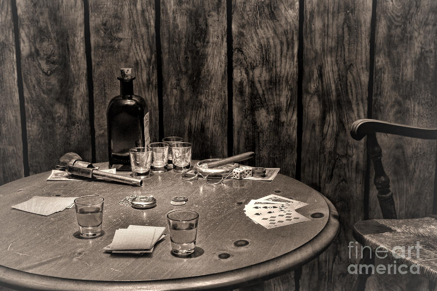 Western Photograph - The Gambling Table by Olivier Le Queinec
