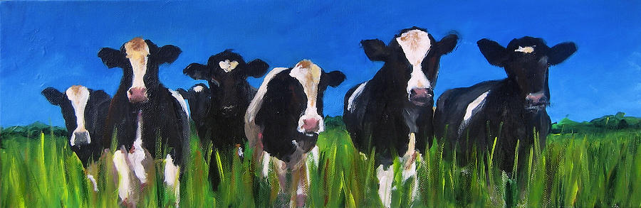 Cattle Painting - The Gang by Cari Humphry