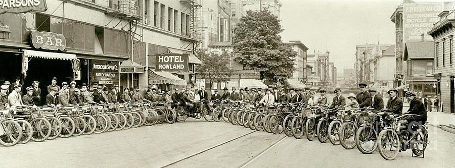 Harley Photograph - The Gang by Jon Neidert