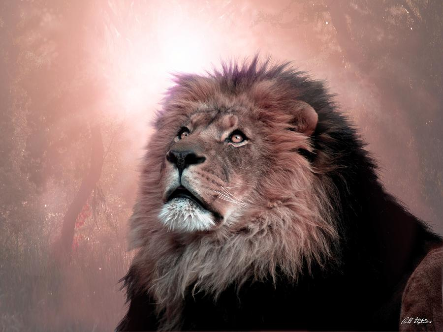 Lion Digital Art - The Garden by Bill Stephens