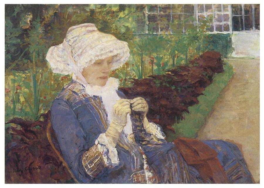 Mary Cassatt Painting - The Garden by Mary Cassatt