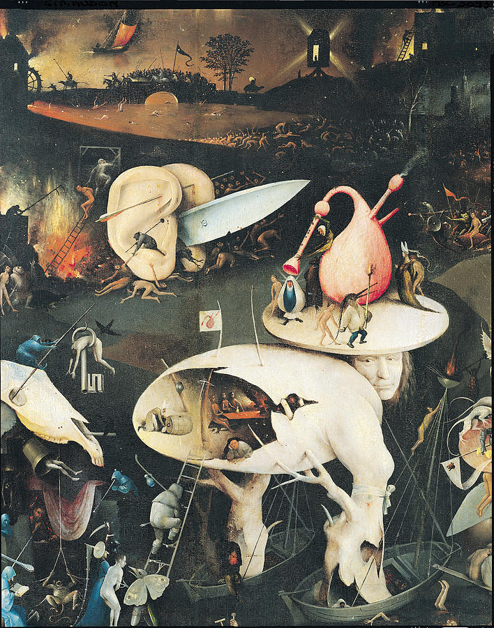 Ear Photograph - The Garden Of Earthly Delights Hell, Right Wing Of Triptych, C.1500 Oil On Panel See 322, 3425 by Hieronymus Bosch