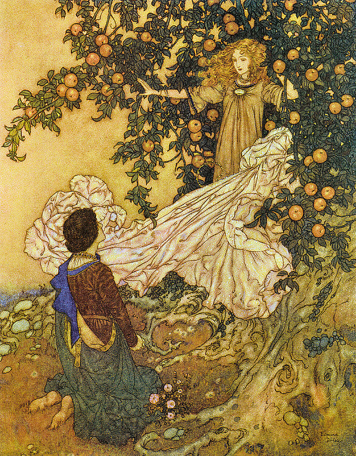 Edmund Dulac Digital Art - The Garden Of Paradise IIi by Edmund Dulac
