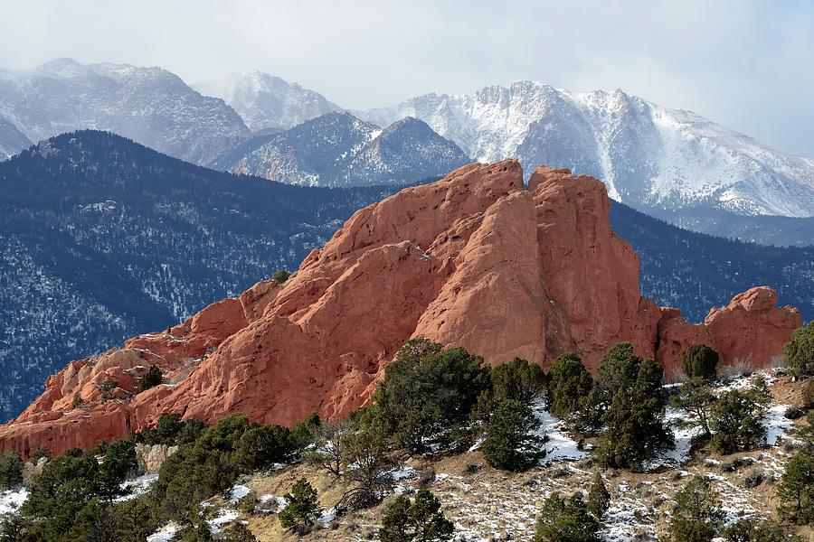 The Garden Of The Gods In Colorado Photograph by Rivernorthphotography