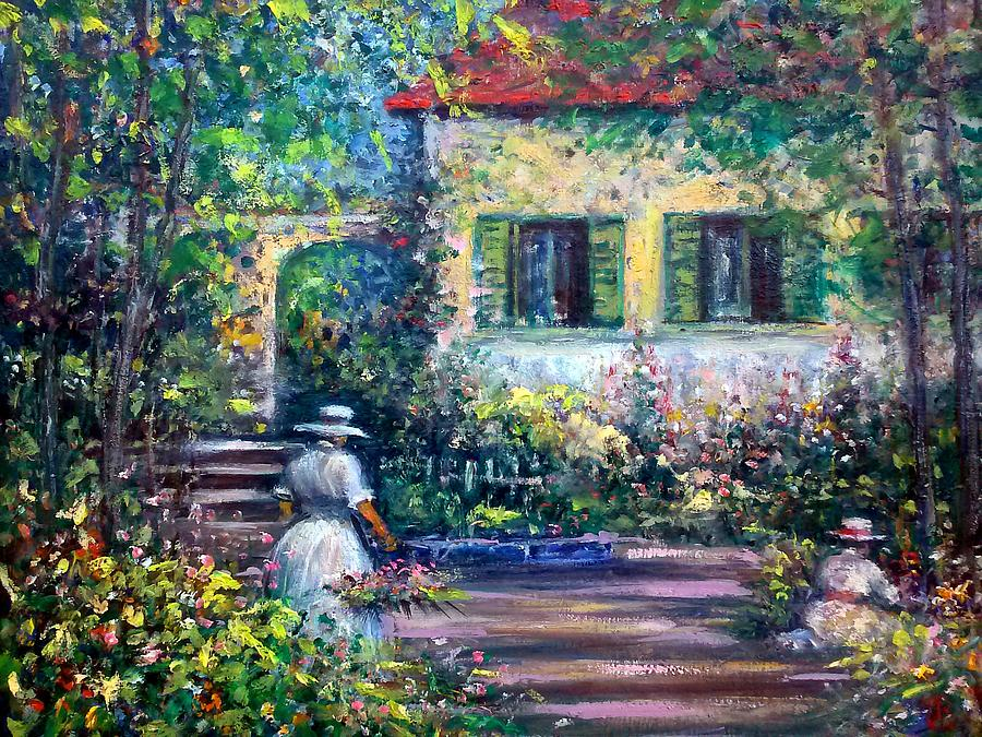 The Garden Painting by Philip Corley