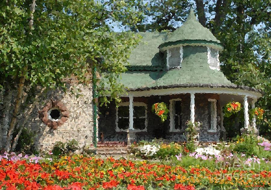 The Gardener\'s Cottage Kew Gardens Toronto Photograph by Ian Howard